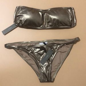 ✨SALE✨J.Crew Brand New W/Tags Metallic Gold Bikini